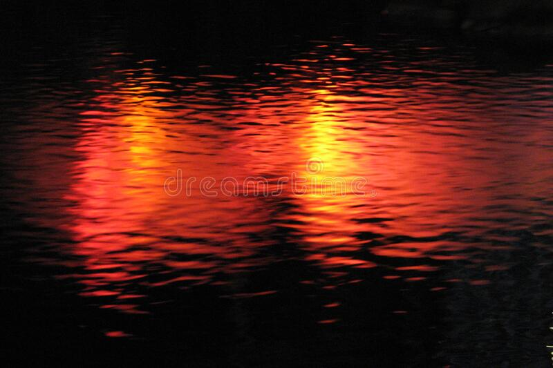 lights in water, Las Vegas 20 royalty free stock image