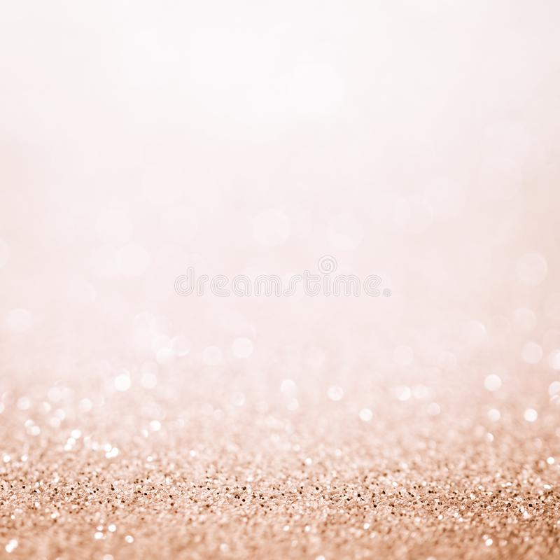Lights on white pink background abstract beautiful blink light w. Ith bokeh bright winter and christmas decoration design blur backdrop luxury royalty free stock photo