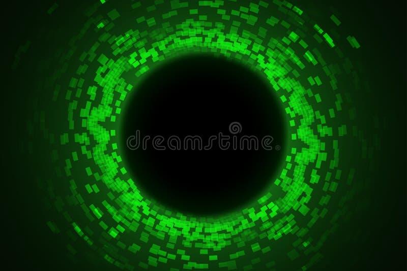 Lightsbackground verde 08 del círculo ilustración del vector