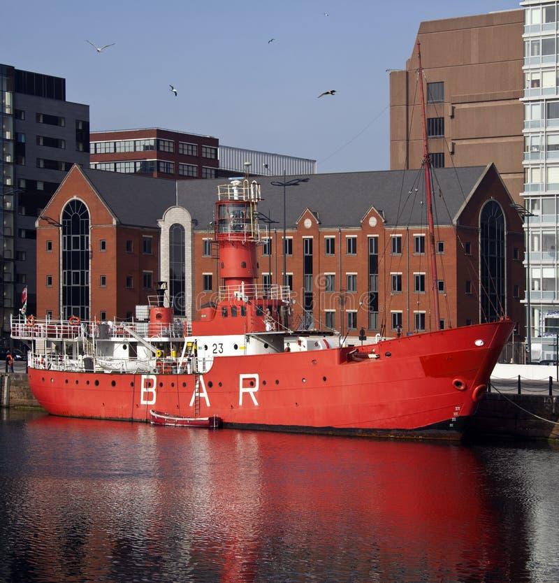 Lightship - Albert Dock - Liverpool - England stock photography