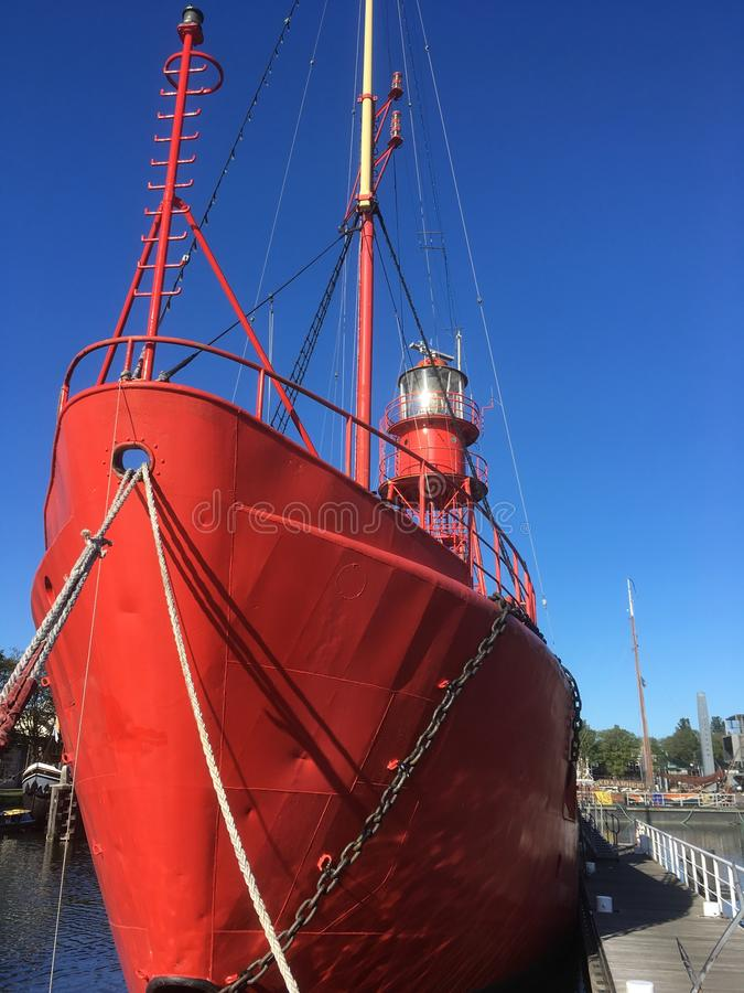 Lightship in Red & Blue royalty free stock photos