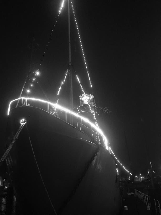 Lightsip dans l'obscurité photos libres de droits
