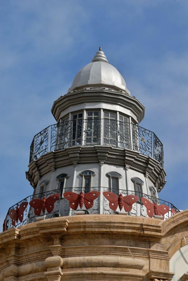 Lighttower histórico en Almería - España imágenes de archivo libres de regalías