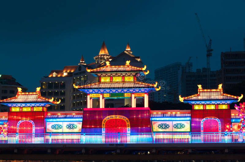 Lightup during Mooncake Festival stock photos