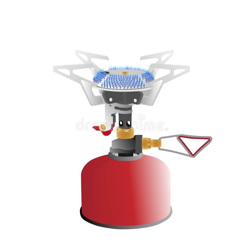 Lightweight portable gas burner royalty free illustration