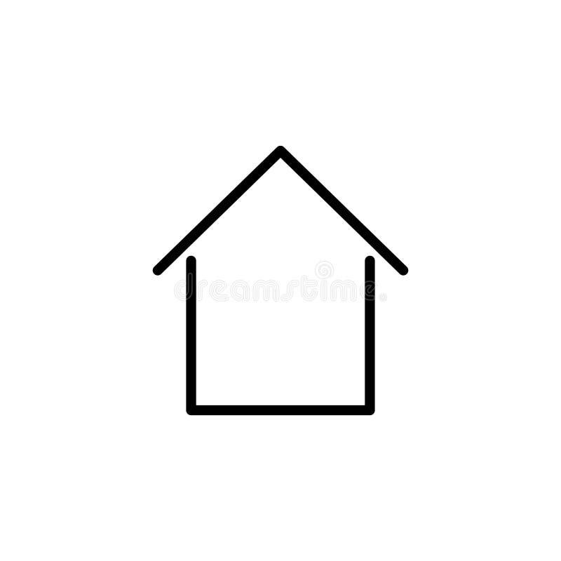 Ligne à la maison moderne icône illustration de vecteur