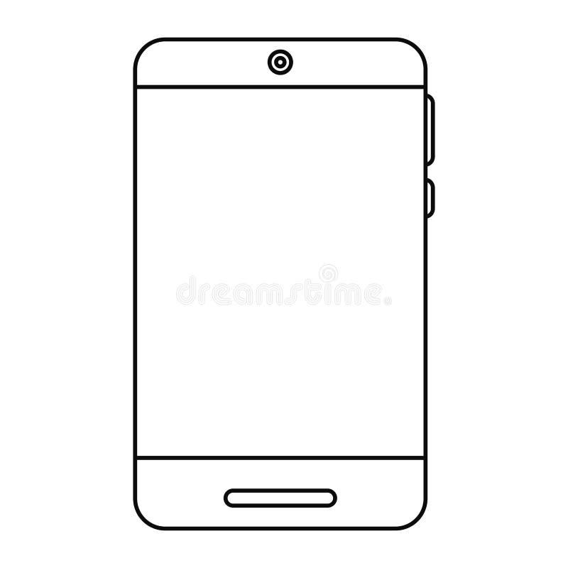 ligne à la mode de style de technologie de smartphone illustration libre de droits