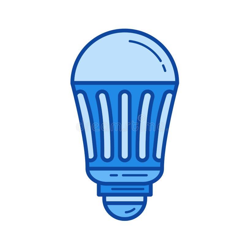 Ligne économiseuse d'énergie icône d'ampoule de LED illustration de vecteur