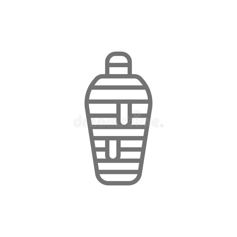 Ligne égyptienne antique icône de maman illustration stock