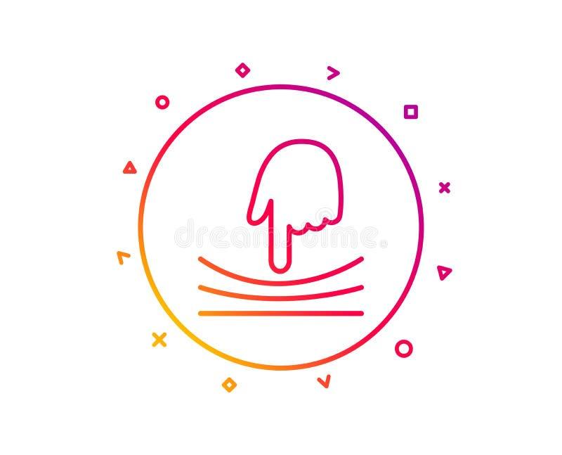 Ligne élastique icône Signe matériel de résilience Vecteur illustration de vecteur