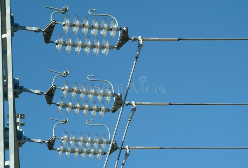 Ligne électrique photo stock