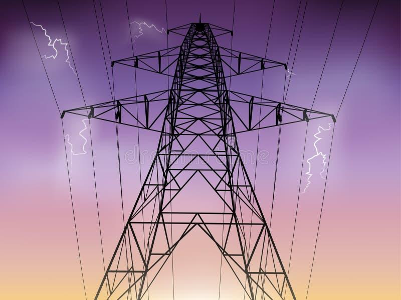 Ligne électrique illustration de vecteur