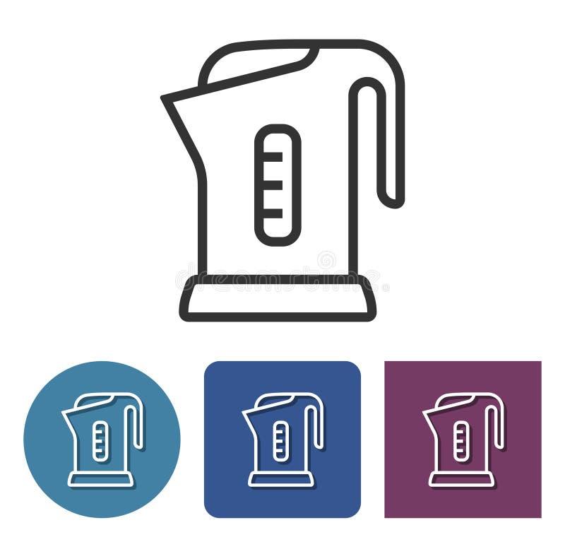 Ligne électrique icône de bouilloire illustration de vecteur