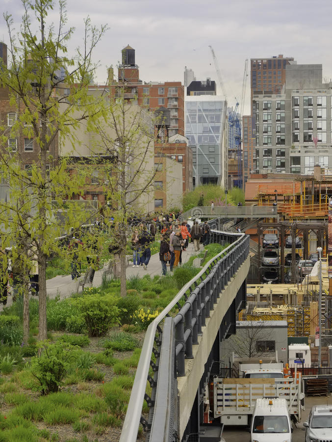 Ligne élevée, Chelsea, New York City photos stock
