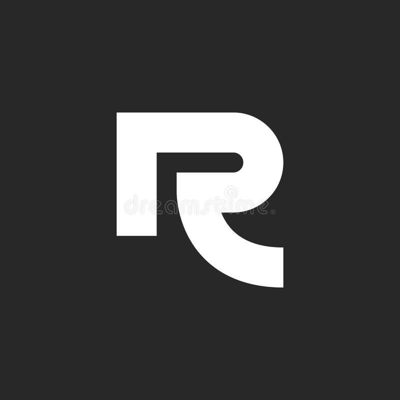 Ligne épaisse emblème minimaliste créatif de logo audacieux de la lettre R une de carte de visite professionnelle de visite de illustration de vecteur
