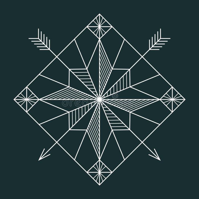 Ligne étoile de navigation illustration de vecteur