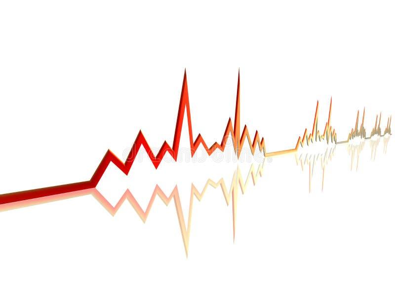 Ligne 3 d'EKG illustration de vecteur