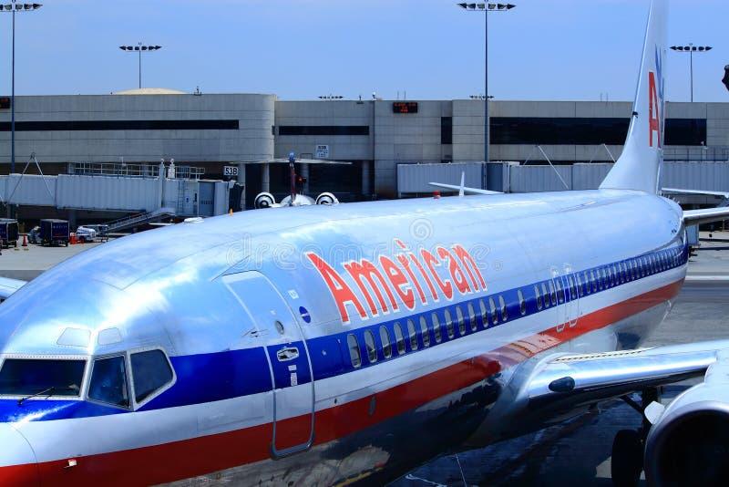 Ligne aérienne américaine image libre de droits