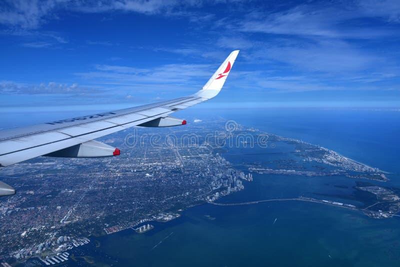 Ligne aérienne d'Avianca images libres de droits