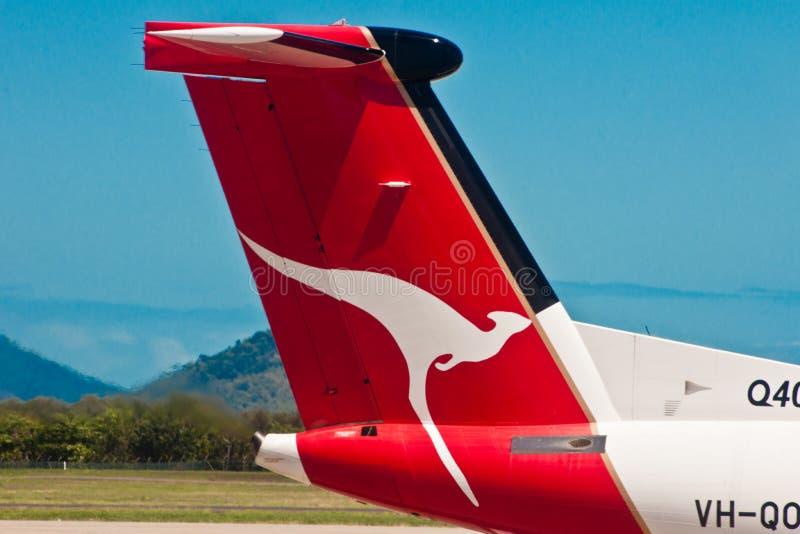 Ligne aérienne de Quantas, logo de Quantas, ligne aérienne australienne image libre de droits