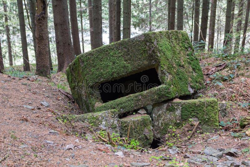 Ligne abandonnée Arpad de fortification depuis la deuxième guerre mondiale photos libres de droits