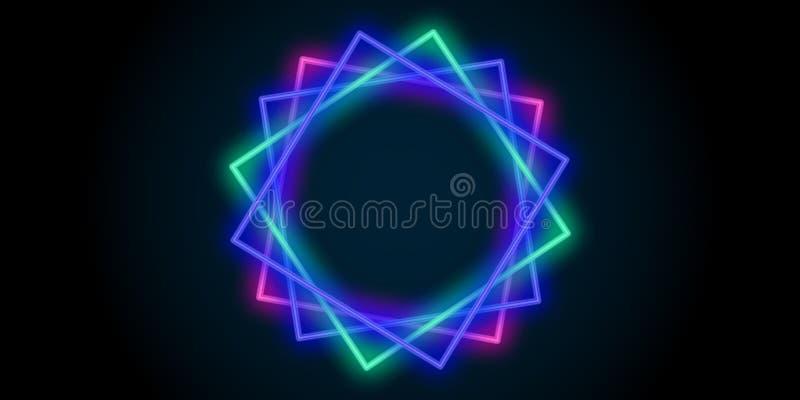 ligne abstraite au néon fond de couleur de places de lumière illustration libre de droits