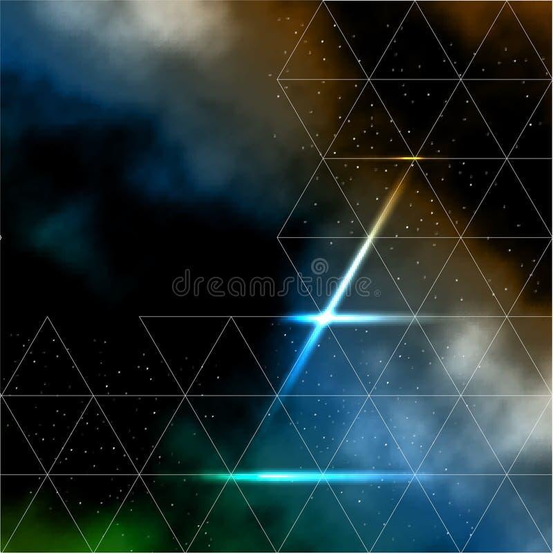 Ligne abstraite composition avec la galaxie illustration de vecteur