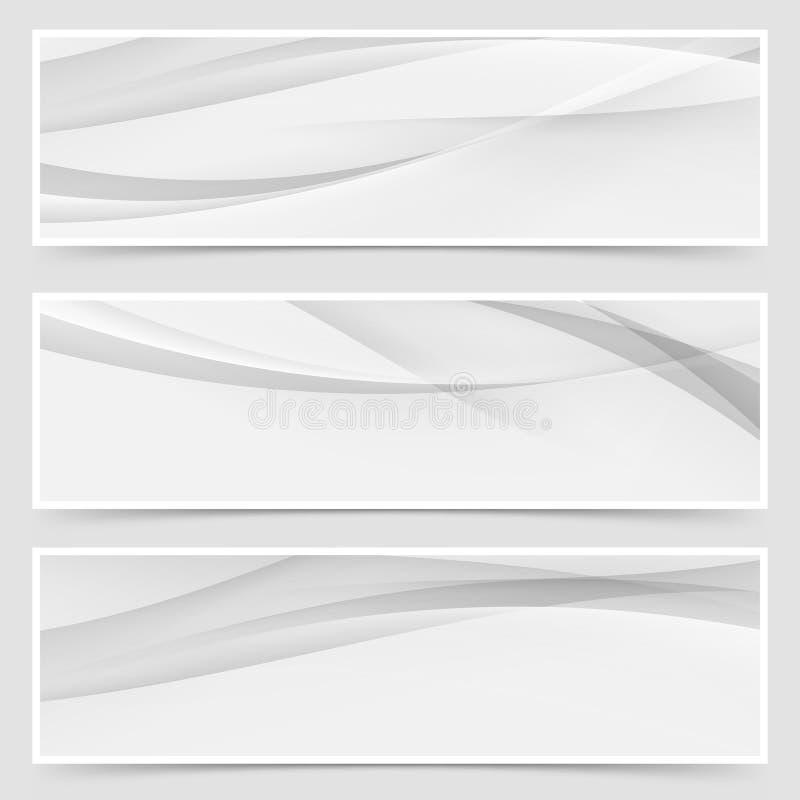 Ligne abstraite grise tramée disposition d'en-tête illustration de vecteur