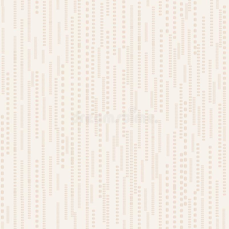 Ligne abstraite modèle beige sans couture de point Texture dépouillée de tuile illustration stock