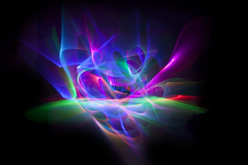 Ligne abstraite mouvement de différentes couleurs, col d'abstraction de courbes illustration libre de droits