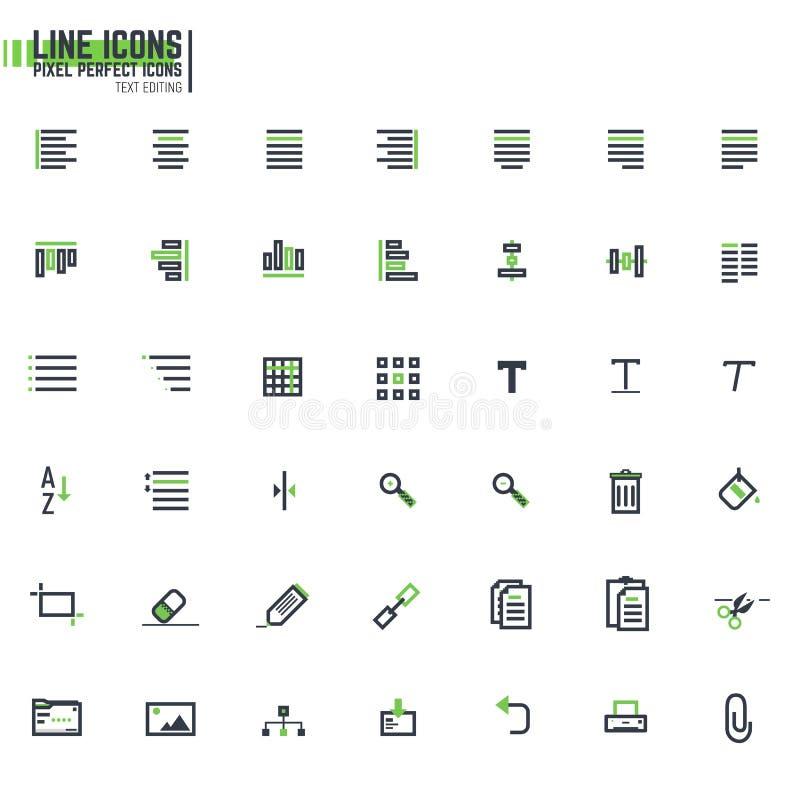 Ligne alignement de pixel des textes illustration libre de droits
