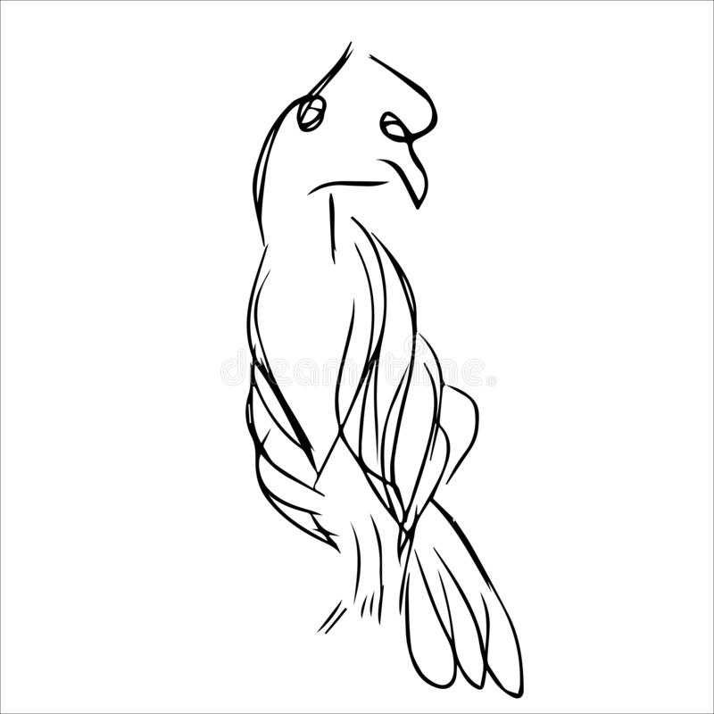 Ligne animale Art Monochrome Style illustration stock