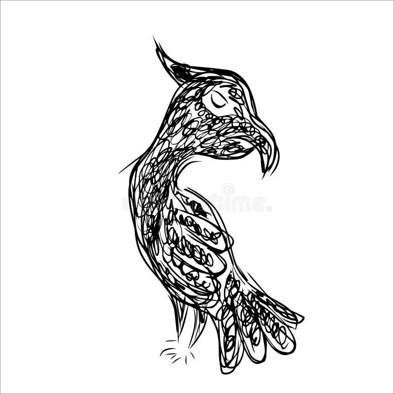 Ligne animale Art Monochrome Style illustration libre de droits