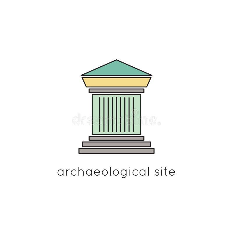 Ligne archéologique icône de site illustration libre de droits