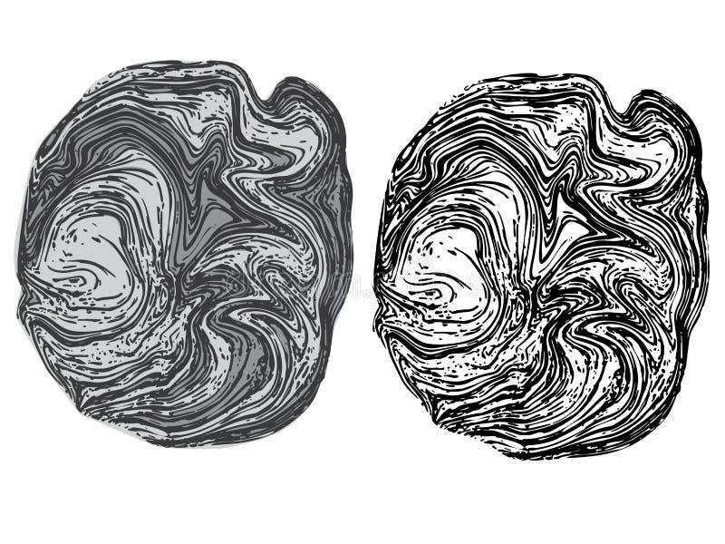 Ligne Art Stone Texture illustration de vecteur