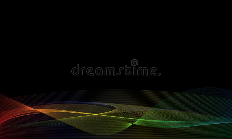 Ligne Art Wallpaper Background de vague d'arc-en-ciel illustration libre de droits