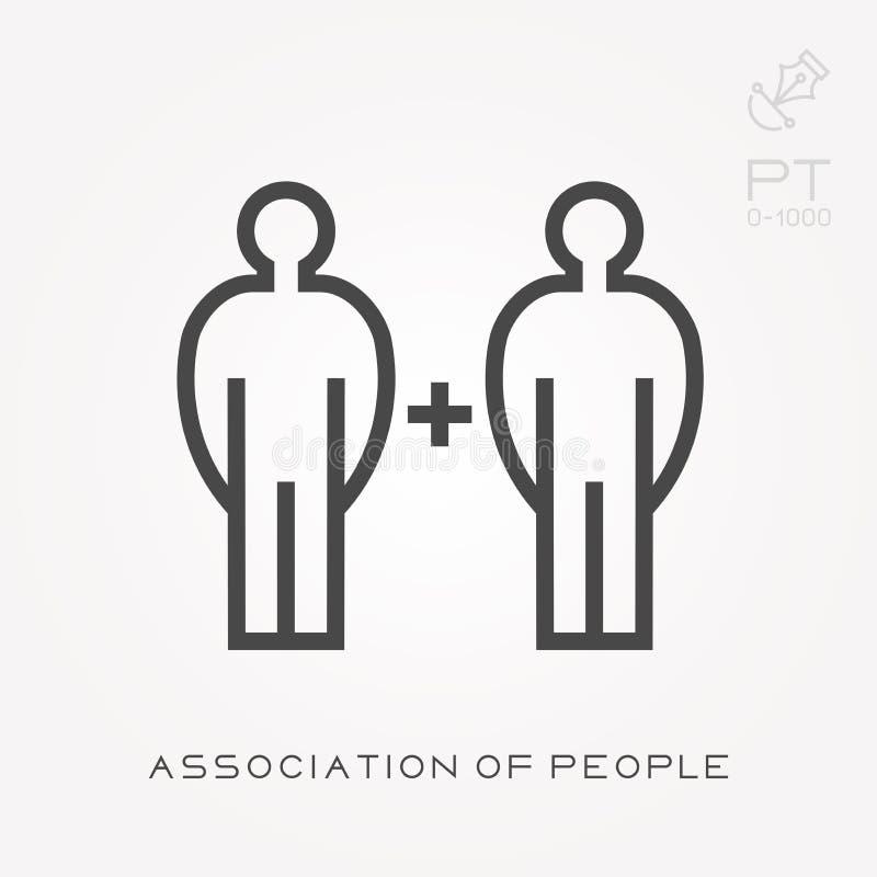 Ligne association d'icône des personnes illustration libre de droits