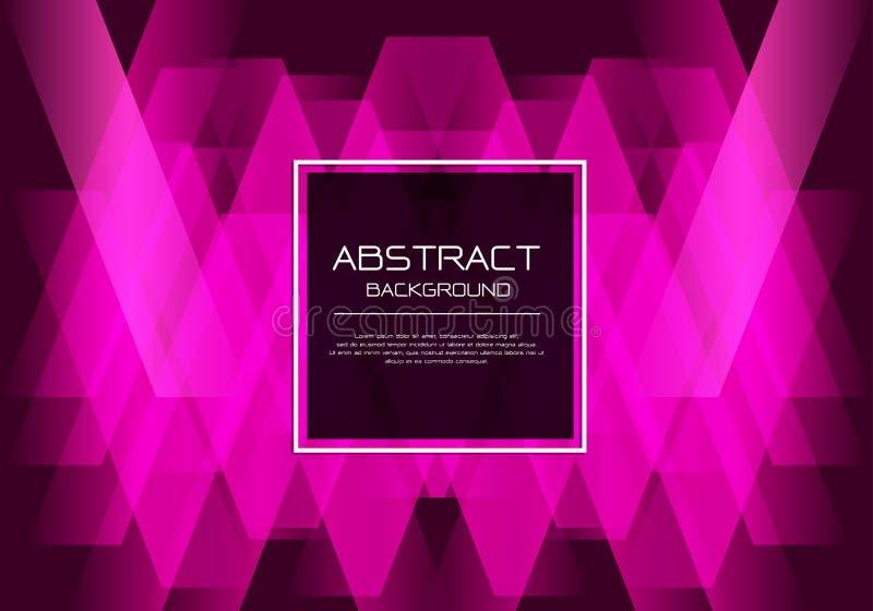Ligne au néon rose de luxe de vecteur de résumé tissée sur le noir avec le fond moderne de bannière de cadre de conception blanch illustration stock