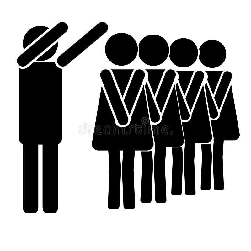 ligne aux femmes tristes d'homme heureux de toilette illustration libre de droits
