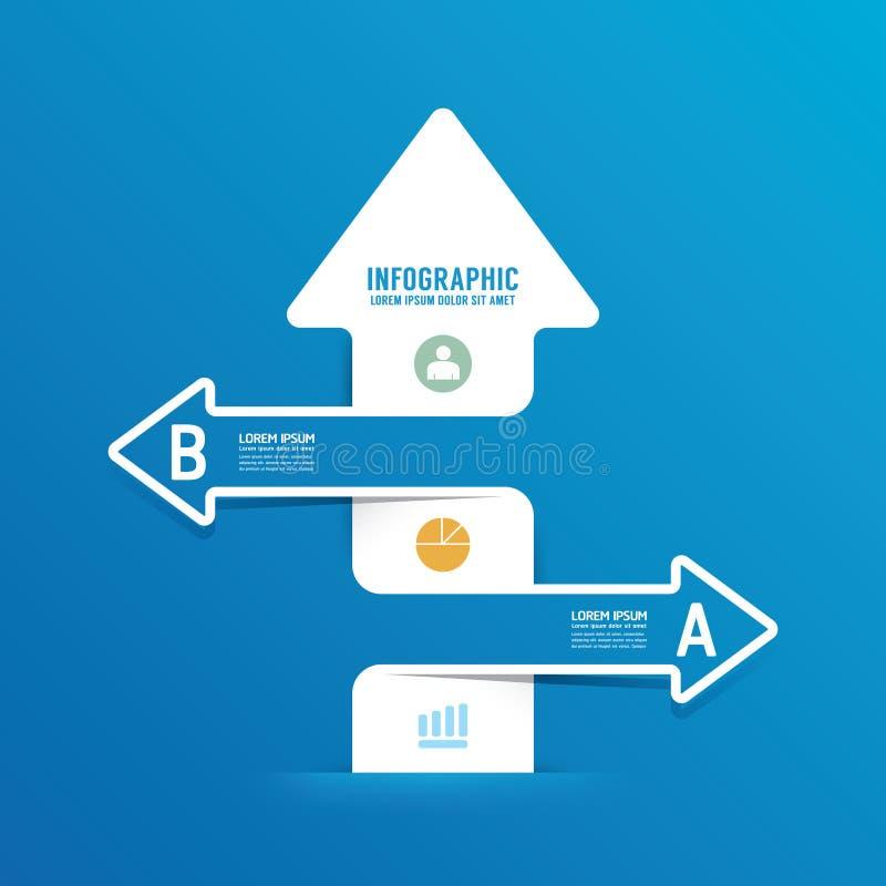 Ligne bannière de flèche d'options d'infographics peut être employé pour l'infograph illustration libre de droits