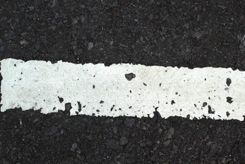 Ligne blanche sur la texture de route image libre de droits