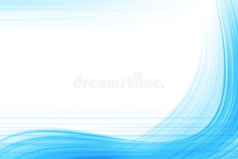 Ligne bleue dans le blanc illustration stock