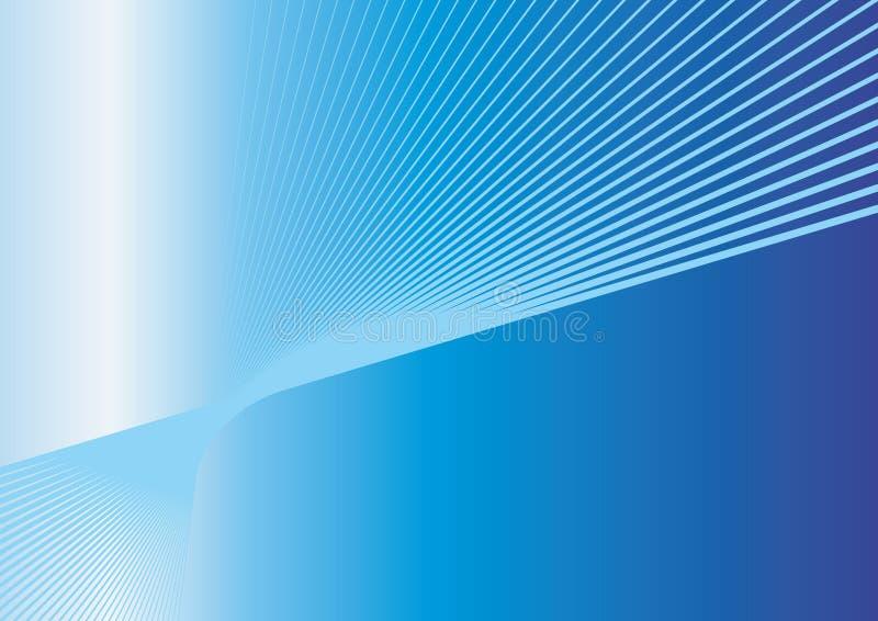 Ligne bleue de vitesse illustration libre de droits
