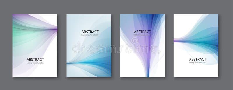 Ligne bleue fond réglé de résumé Illustration de vecteur illustration stock