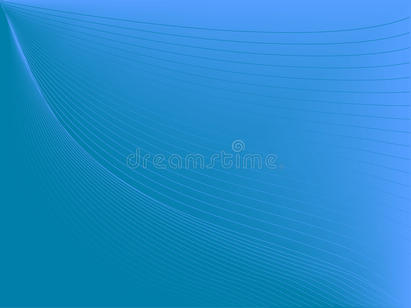 Ligne bleue profonde illustration stock