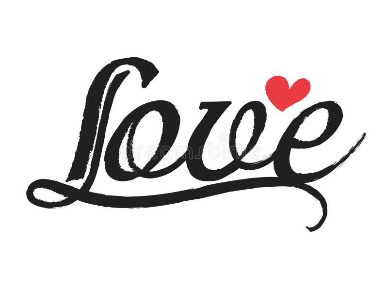 Ligne brosse de courbe d'amour image libre de droits