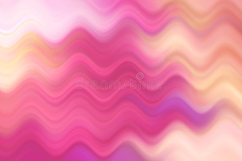 Ligne brouillée de vague, fond abstrait coloré photos libres de droits