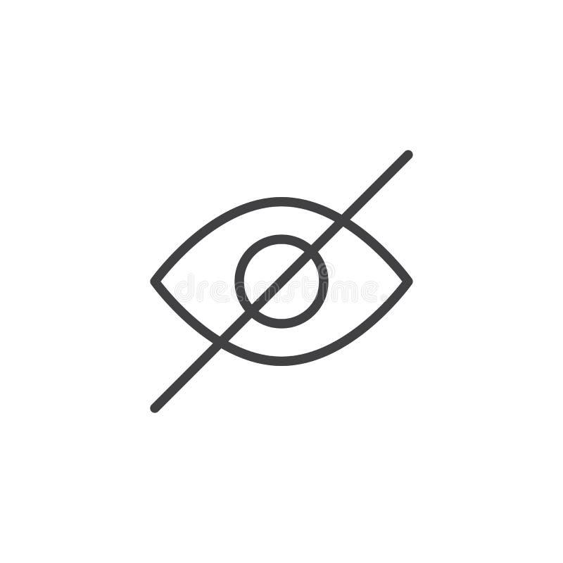 Ligne cachée icône d'interface utilisateurs illustration libre de droits