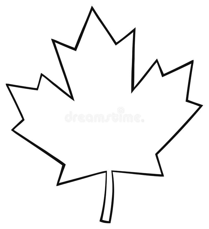 Ligne canadienne d crite dessin de feuille d 39 rable de bande dessin e illustration stock - Feuille erable dessin ...