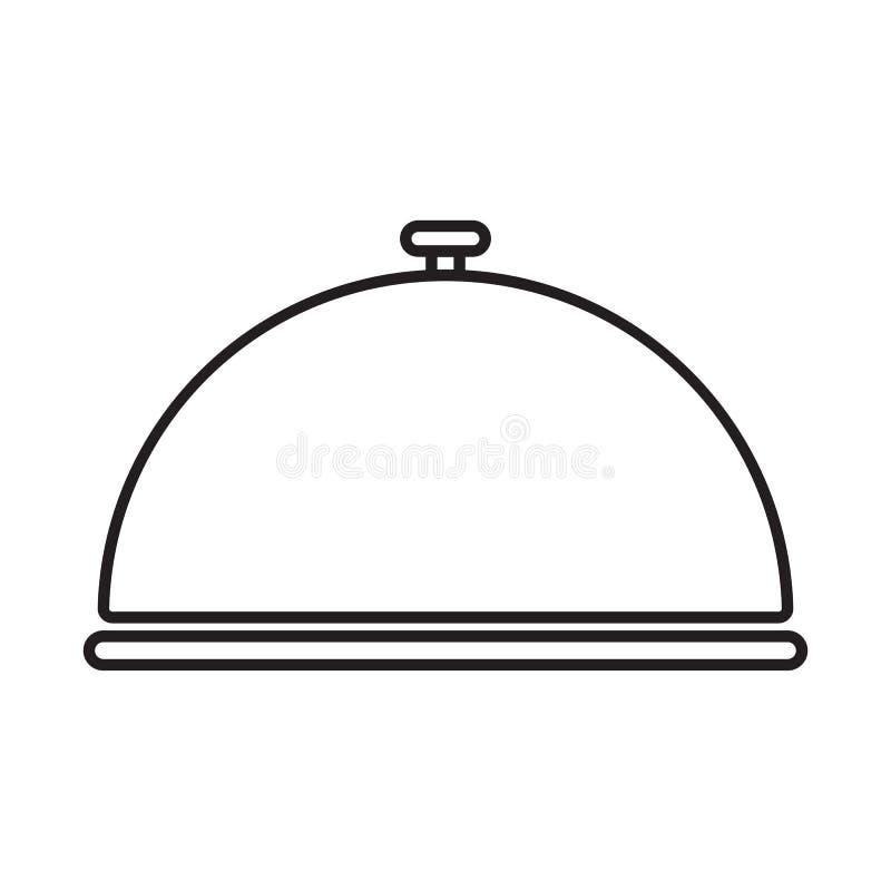 Ligne cloche de restaurant d'icône illustration stock